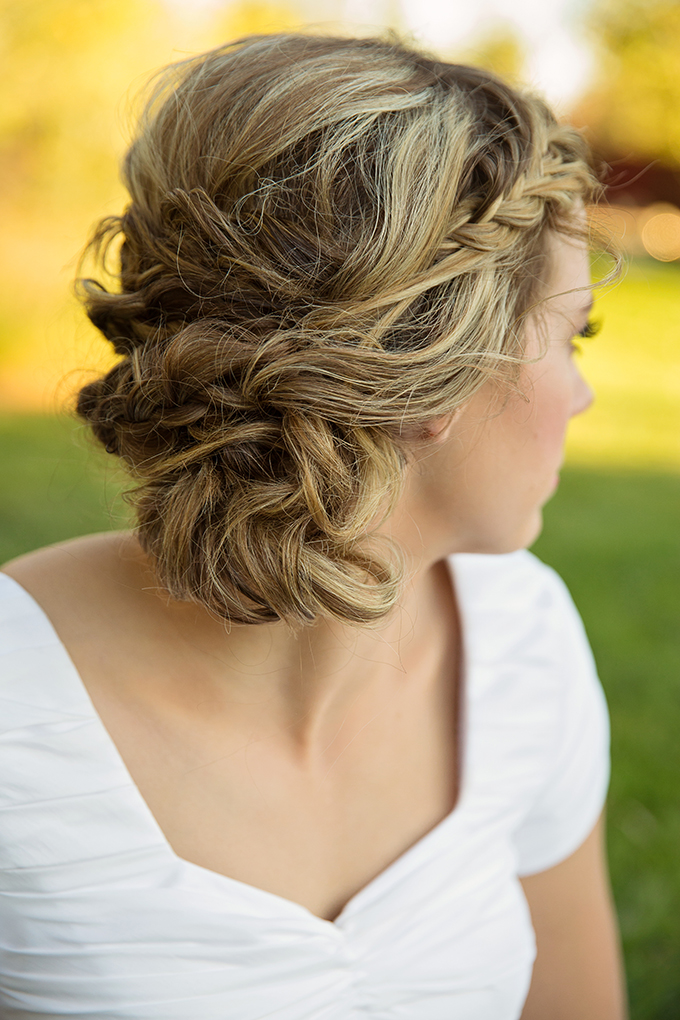 braided updo | Tara H. Photography | Glamour & Grace