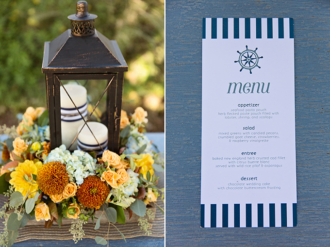 fall nautical wedding inspiration | Tara H. Photography | Glamour & Grace