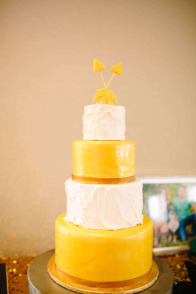 arrow cake | Al Gawlik Photography | Glamour & Grace