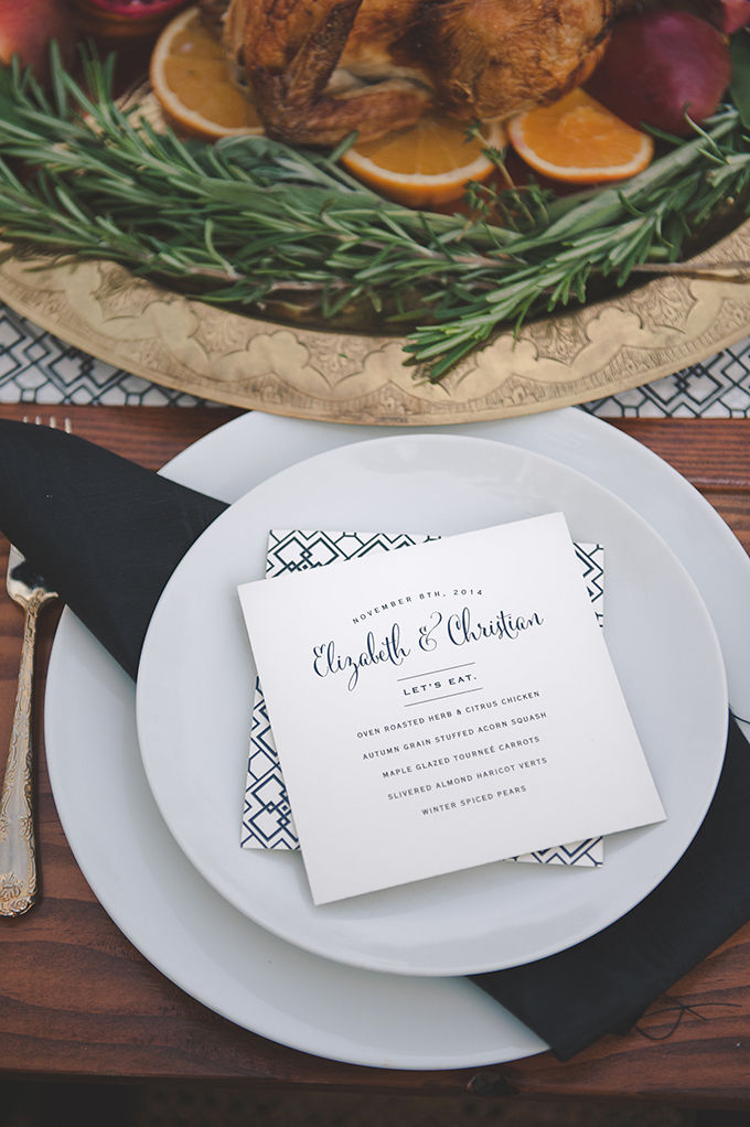 intimate graphic print wedding inspiration | Bit of Ivory Photography | Glamour & Grace