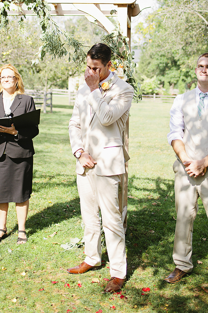 groom's reaction to bride | Brooke Courtney Photography | Glamour & Grace