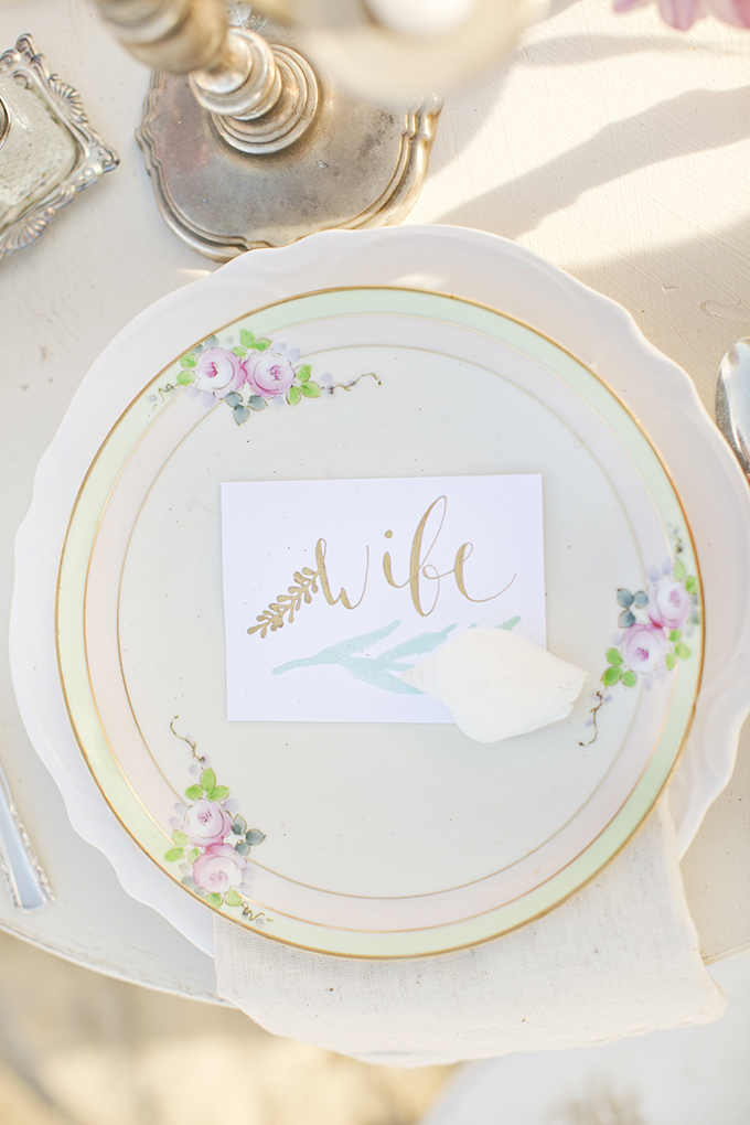 vintage place setting | Brooke Beasley Photography | Glamour & Grace