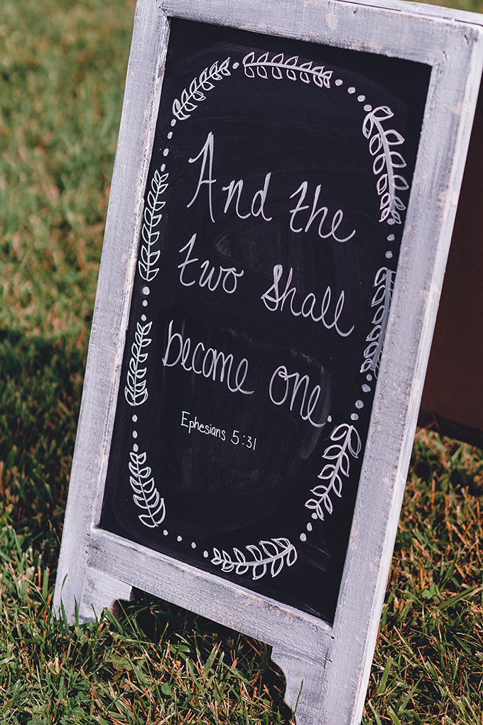 'and the two shall become one' signage | sharon elizabeth photography | Glamour & Grace