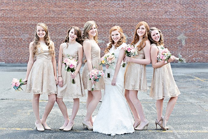 blush and gold wedding | Megan Vaughan Photography | Glamour & Grace