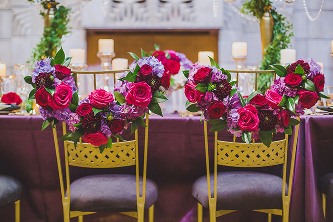 chair garlands | Elyse Hall Photography | Glamour & Grace