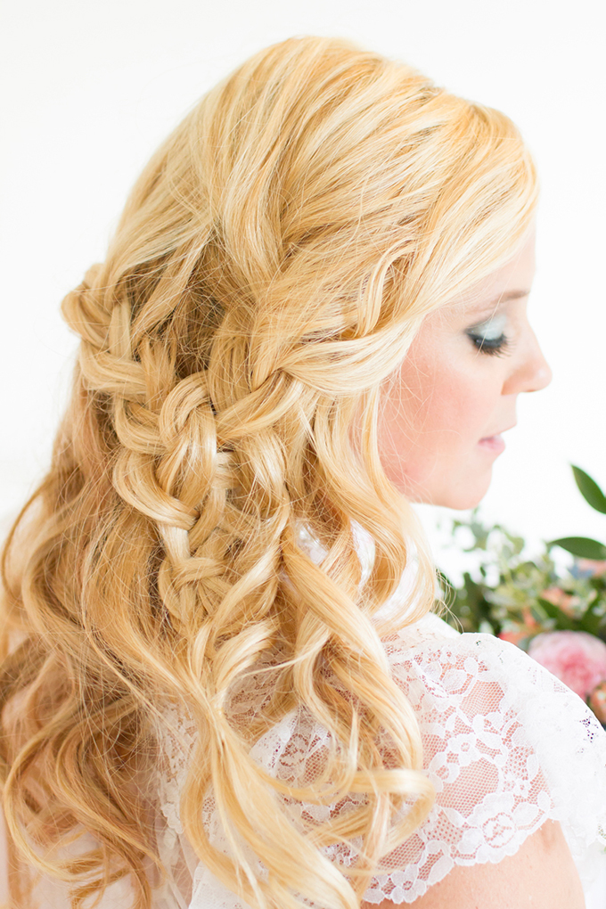 relaxed braided hair | Angie Capri Photography | Glamour & Grace
