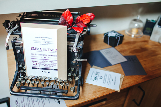 modern wedding invitation   Les Amis Photo   Glamour & Grace