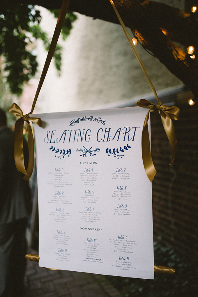 hanging seating chart | Peach Plum Pear Photo | Glamour & Grace