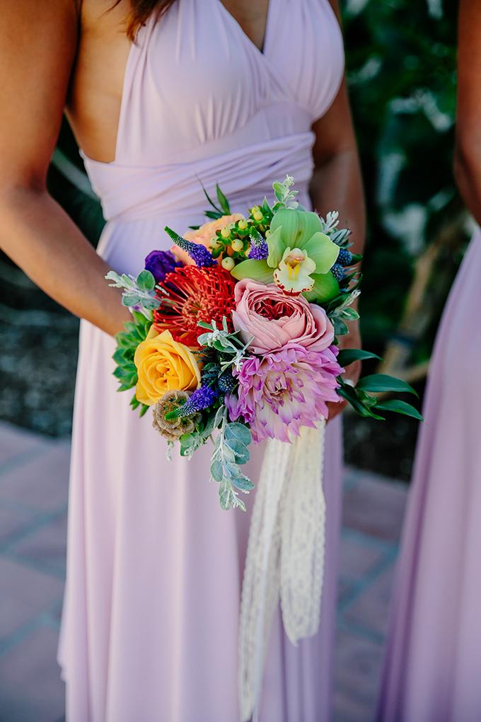 colorful bridesmaid bouquet | Caroline + Ben Photography | Glamour & Grace