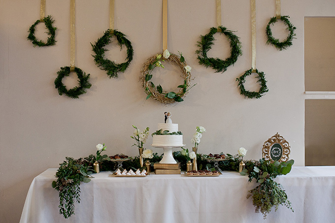 greenery dessert table | Jamie Zanotti Photography | Glamour & Grace