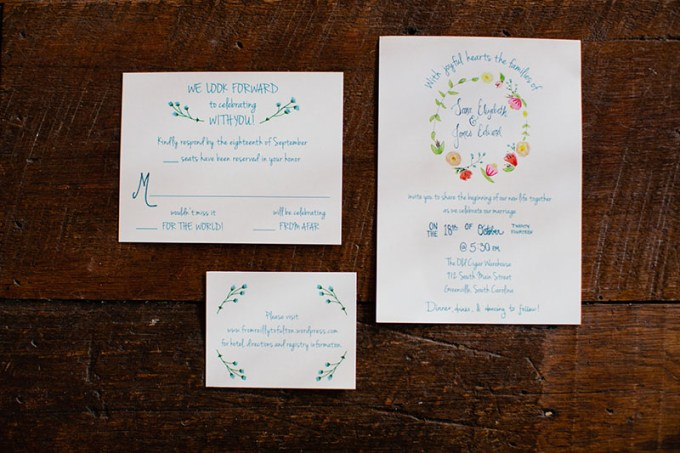 painted invitation   Devon Donnahoo Photography   Glamour & Grace