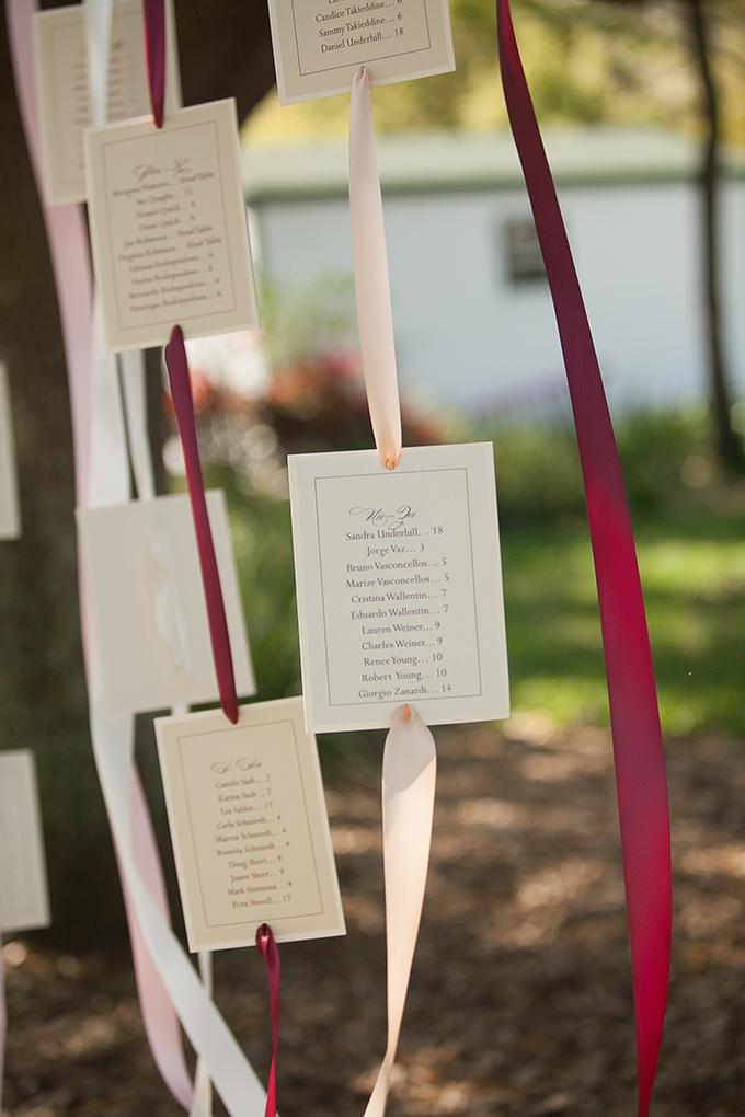 hanging ribbon escort chart | Roohi Photography | Glamour & Grace