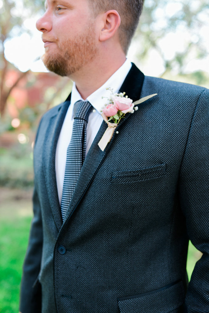 gray suit groom   Leslie D Photography   Glamour & Grace