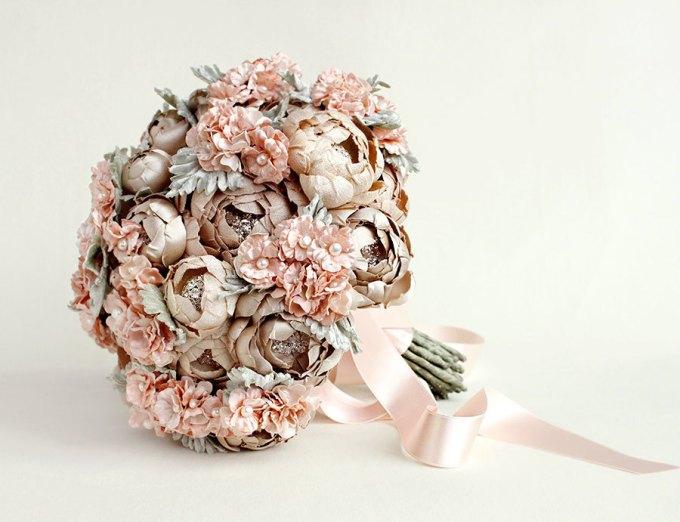 handmade silk flower bouquet by Emici Livet