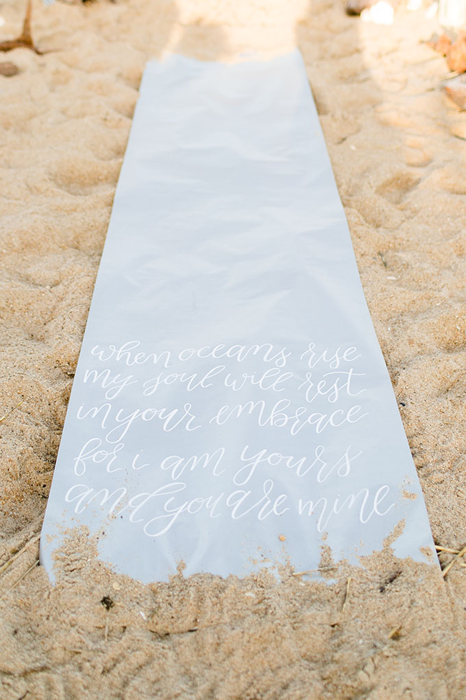 calligraphy runner | Amanda Hedgepeth Photography | Glamour & Grace