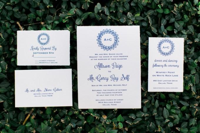 letterpress invitation | Elisabeth Carol Photography | Glamour & Grace
