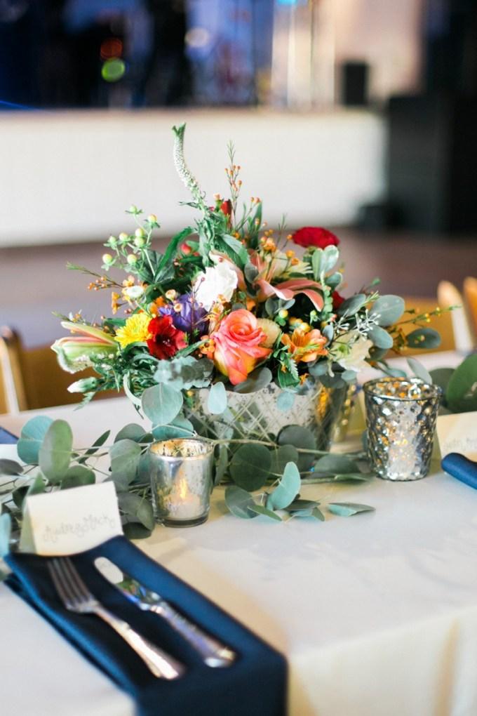 colorful centerpiece | Elisabeth Carol Photography | Glamour & Grace