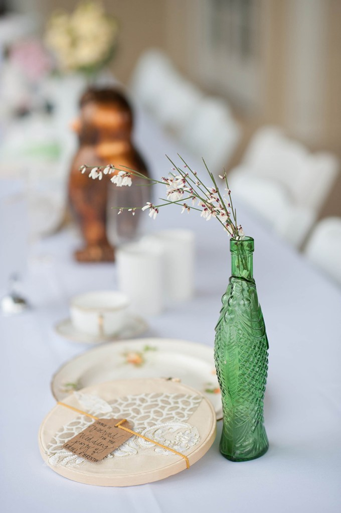 eclectic vintage centerpieces | Stacy Richardson Photography | Glamour & Grace