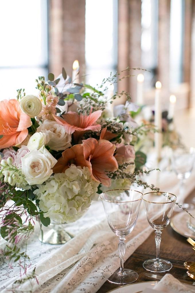 romantic loft wedding inspiration | Christy Tyler Photography | Glamour & Grace