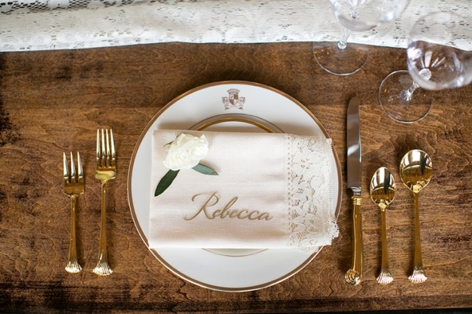 romantic place setting | Christy Tyler Photography | Glamour & Grace