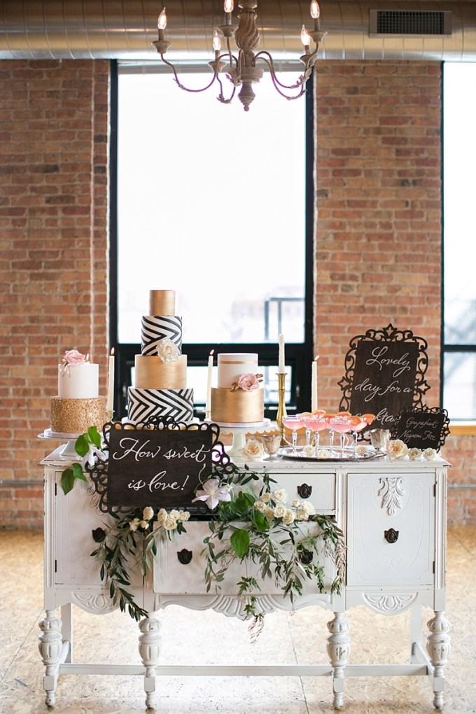 dessert table | Christy Tyler Photography | Glamour & Grace