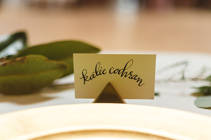 calligraphy place setting | JoPhoto | Glamour & Grace