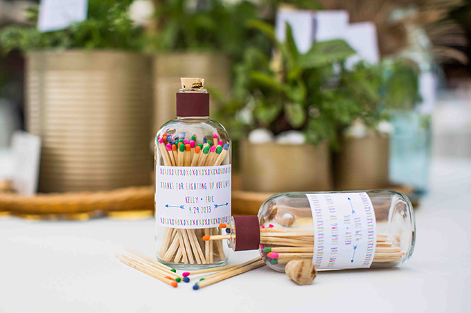 match stick favors | Blueberry Photography | Glamour & Grace