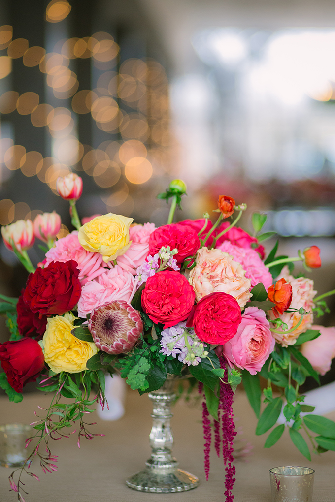 colorful centerpiece | The Bird & The Bear | Glamour & Grace
