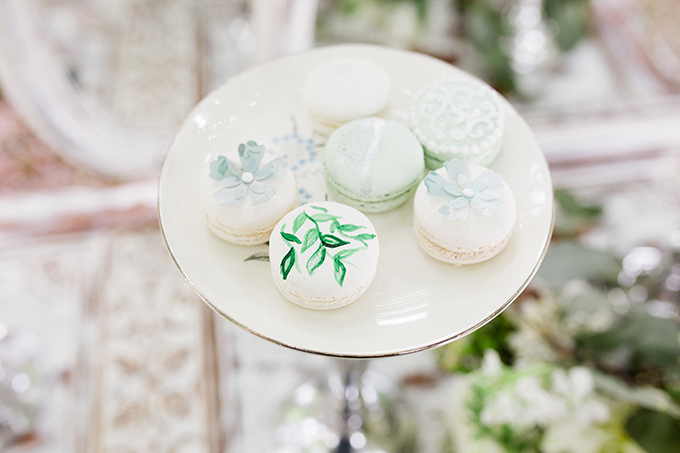 painted macarons | Vanessa Velez Photography | Glamour & Grace