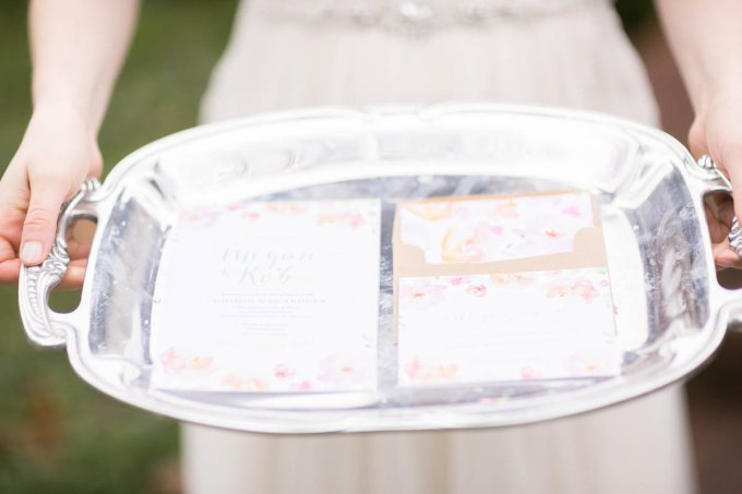 floral invitations | V.A. Photography | Glamour & Grace