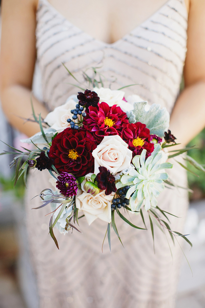 red bouquet | Greer G Photography | Glamour & Grace