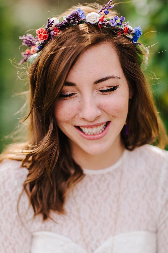 floral crown | Kristen Curette Photography | Glamour & Grace