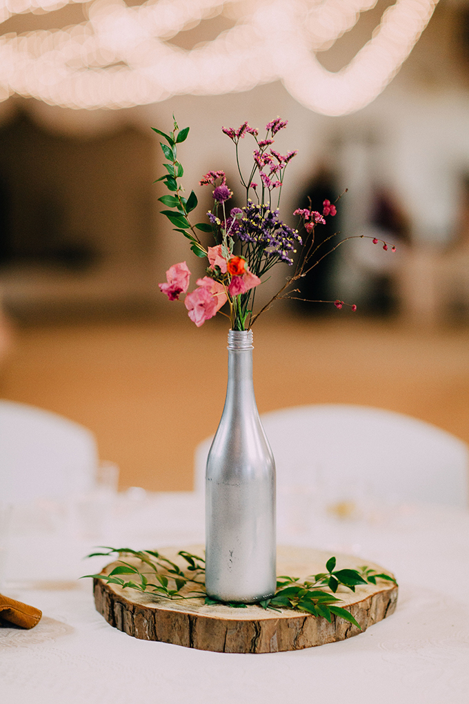 simple DIY centerpieces | Kristen Curette Photography | Glamour & Grace