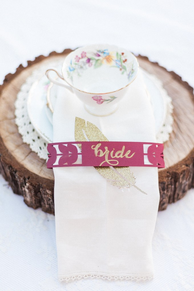 place setting | April Maura Photography | Glamour & Grace