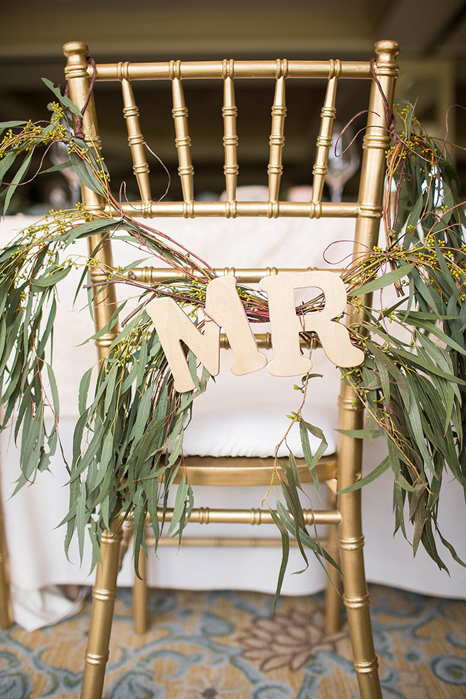 greenery Mr & Mrs chairs | Michele Shore Photography | Glamour & Grace