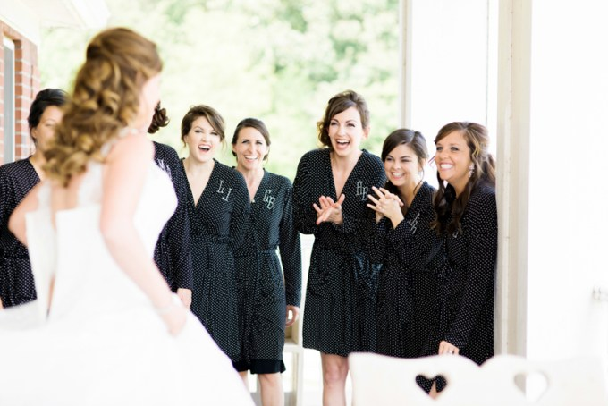 bridesmaid's reaction | Amy Nicole Photography | Glamour & Grace