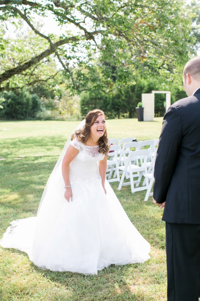 first look reaction | Amy Nicole Photography | Glamour & Grace