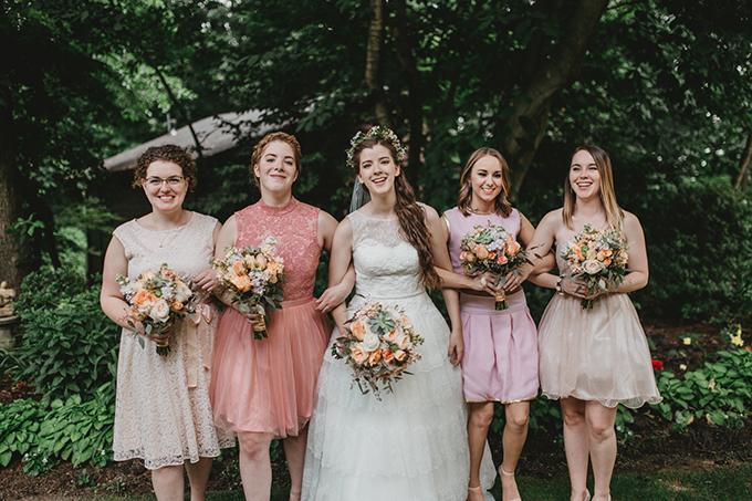 pastel bridesmaids | L.A. Birdie Photography | Glamour & Grace