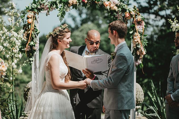 intimate garden wedding | L.A. Birdie Photography | Glamour & Grace