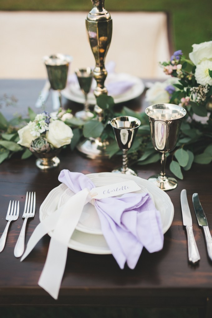 romantic lavender wedding inspiration | Victoria Selman Photographer | Glamour & Grace