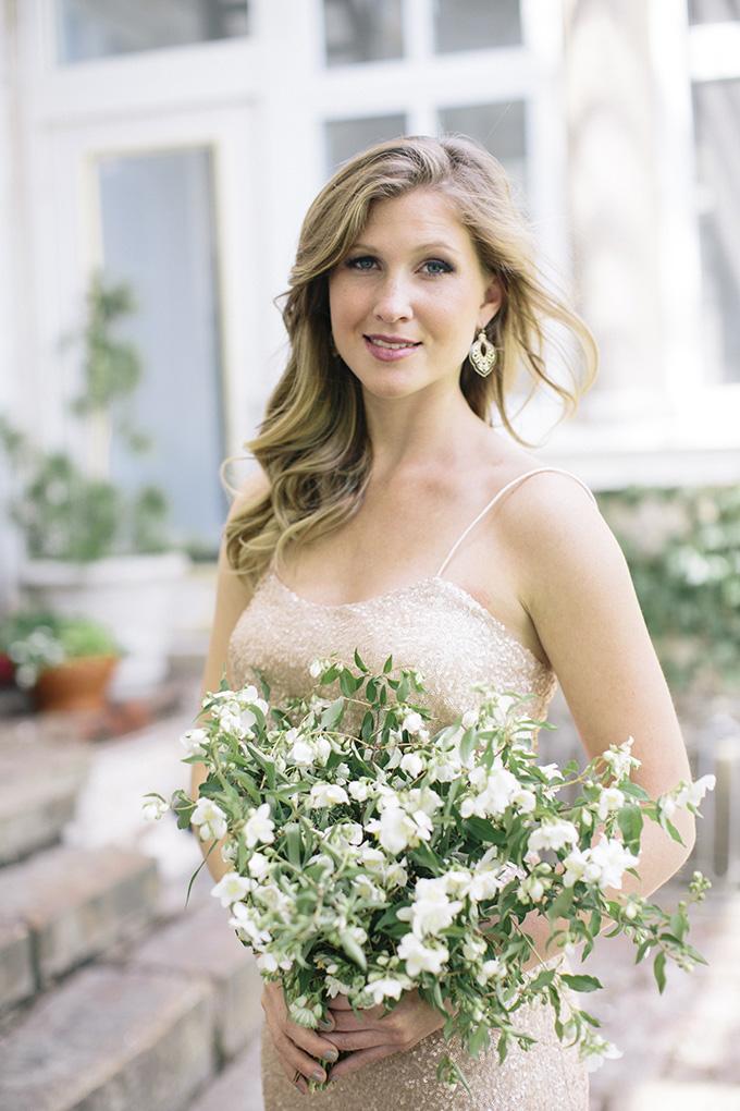 gold bridesmaid | Kate Preftakes Photography | Glamour & Grace