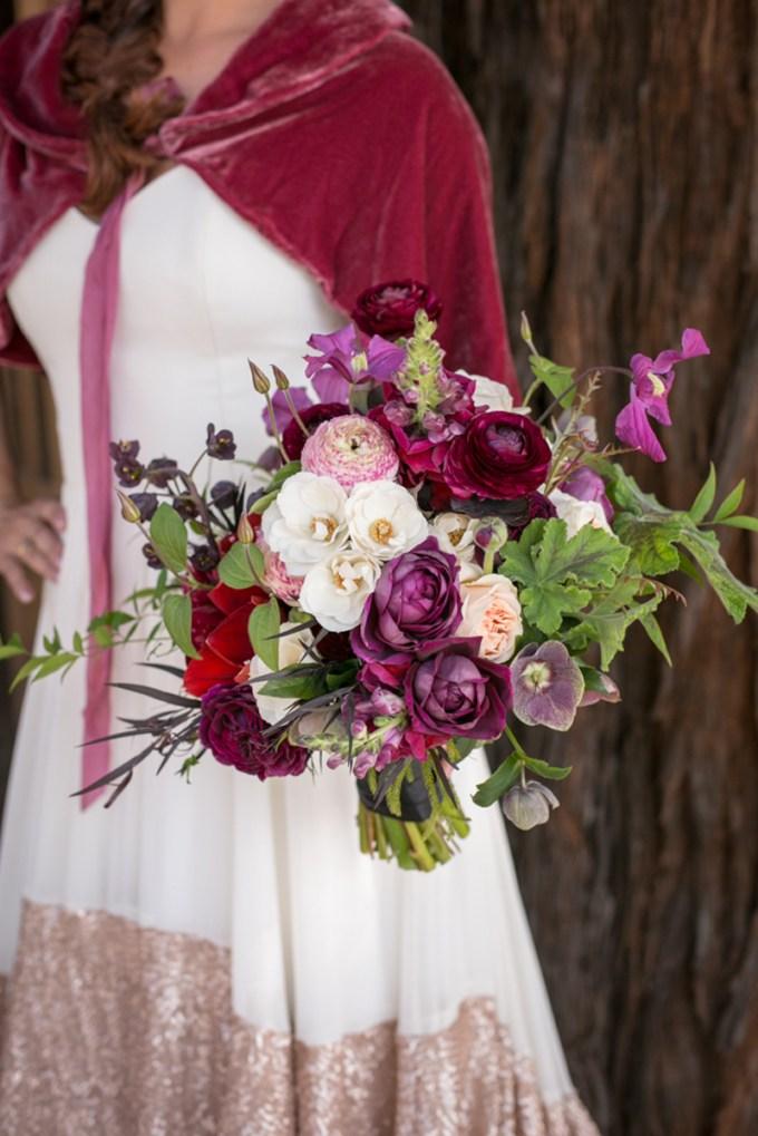 burgundy bouquet   Jessamyn Harris   Glamour & Grace
