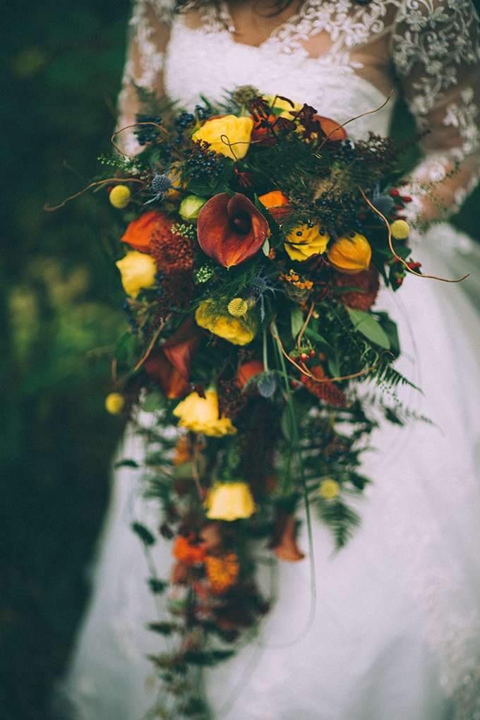 cascading fall bouquet | Enchanted Brides | Glamour & Grace