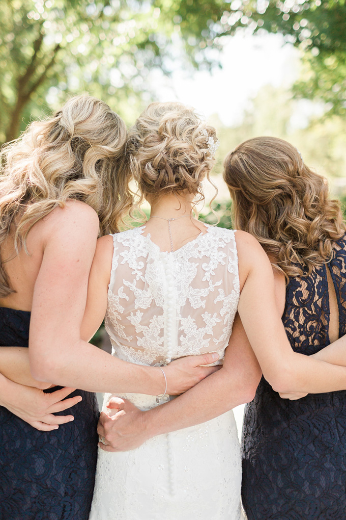 navy bridesmaids | Alicia Lacey Photography | Glamour & Grace