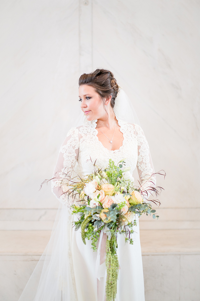 bride in mother's wedding dress | Jill Doty Photography | Glamour & Grace