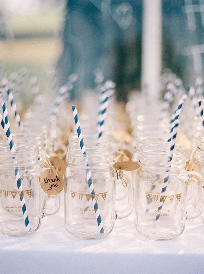 mason jar glasses | Nikki Santerre | Glamour & Grace
