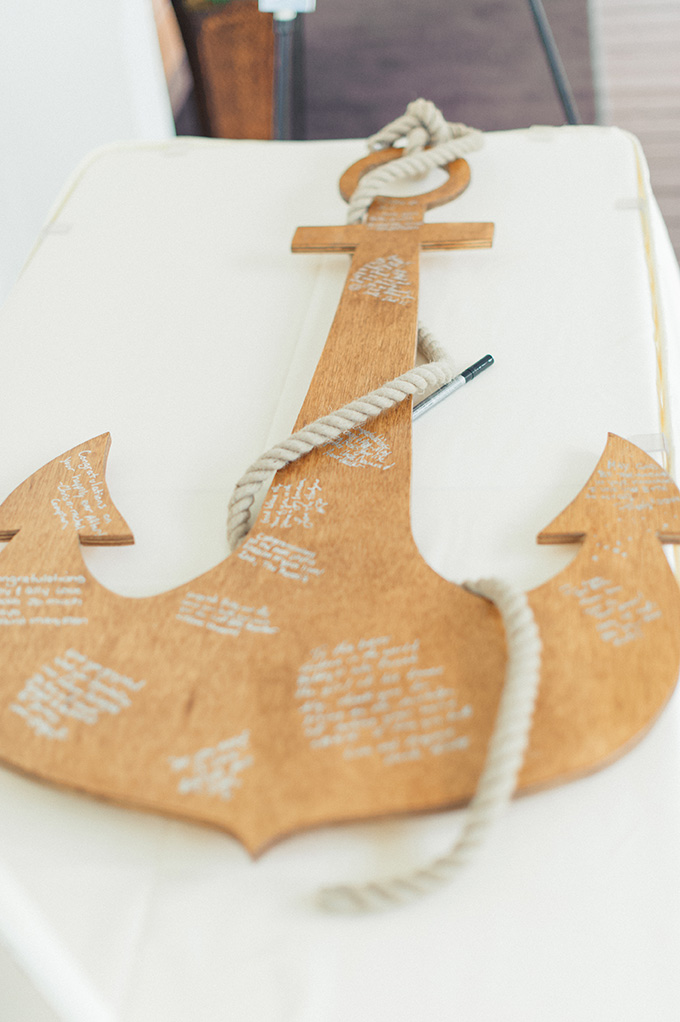 anchor guest book | Jessica Bordner Photography | Glamour & Grace