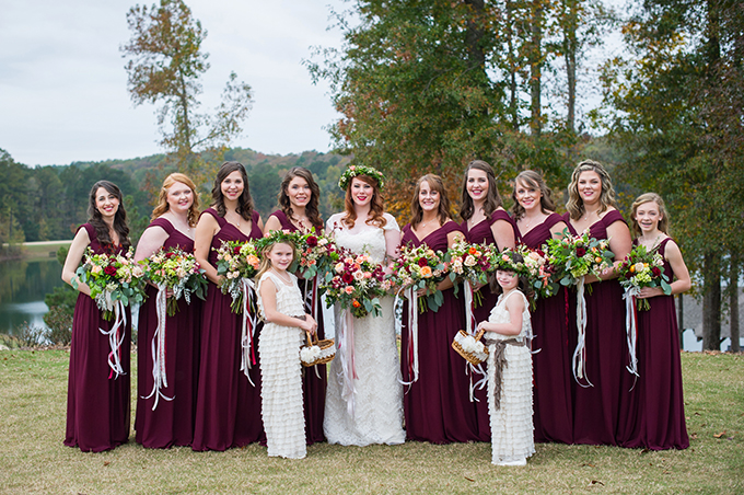 romantic berry fall wedding | Laura Barnes Photo | Glamour & Grace