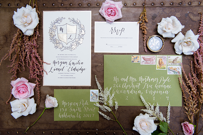 calligraphy invitation | Traci J. Brooks Studios | Glamour & Grace