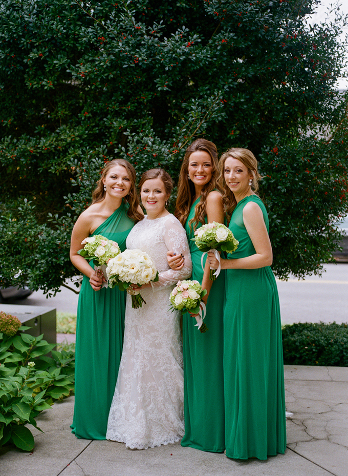 green bridesmaids | Amy Nicole Photography | Glamour & Grace